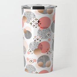 Pattern mosaic and abstract shapes Travel Mug
