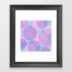krugovi (pink) Framed Art Print
