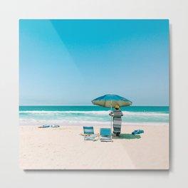 California Colors - Blue Umbrella - v12 Metal Print