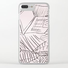 Laptop Lines Clear iPhone Case