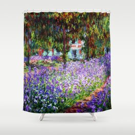 "Claude Monet ""Irises in Monet's Garden at Giverny"", 1900 Shower Curtain"