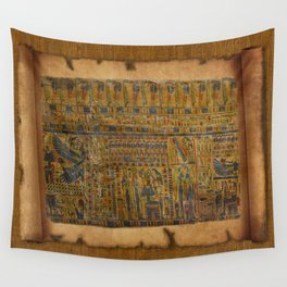 Ancient Egyptian Funerary Scroll pre 944 BC Wall Tapestry