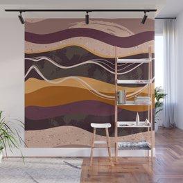 Abstract waves hand drawn illustration pattern Wall Mural