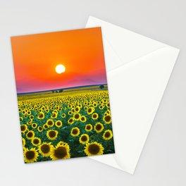 Sunflower Haze Stationery Cards