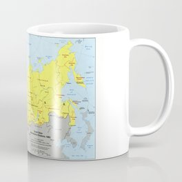 Soviet Union Administrative Divisions Map (1983) Coffee Mug