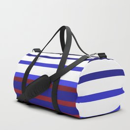 Blue Red Stripes #maritime #stripes #artdeco #minimal #art #design #kirovair #buyart #decor #home Duffle Bag
