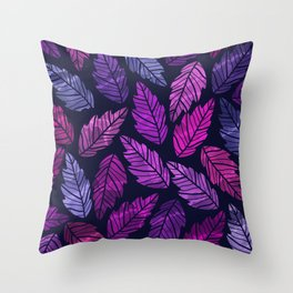 Colorful leaves III Throw Pillow