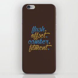 flush offset camber fitment v7 HQvector iPhone Skin