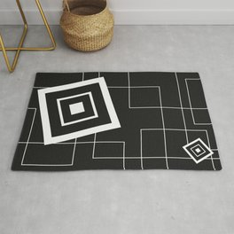"""""""From Big to Small"""" abstract composition (inversion) Rug"""