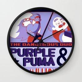 Purple Puma & Tiger Millionaire! Wall Clock