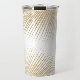 Palm leaf synchronicity - gold Travel Mug