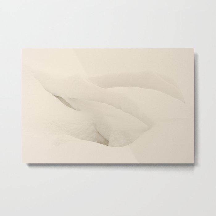 Snow Shapes Metal Print