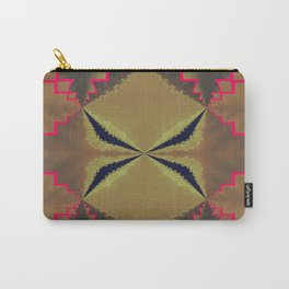 Pinkbrown(blue) Pattern 8 Carry-All Pouch