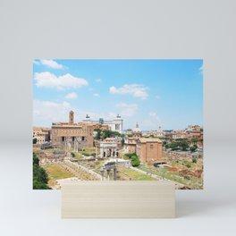 187. Roman Forum View, Rome Mini Art Print