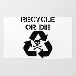 Recycle Black Rug