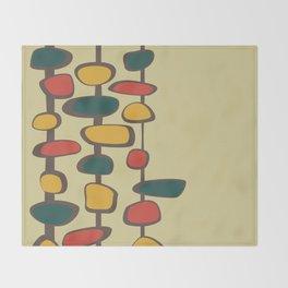 Mid Century Modern Baubles (gold) Throw Blanket