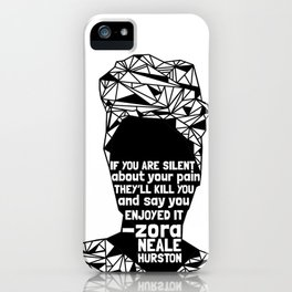 ZNH - If You Are Silent - Black Lives Matter - Series - Black Voices iPhone Case