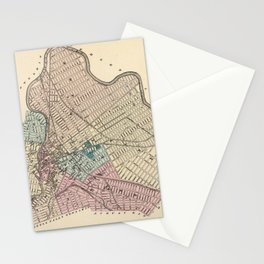 Vintage Map of Paterson New Jersey (1872) Stationery Cards