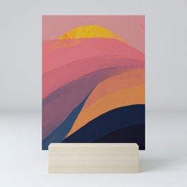 Colorful Mountain Scape Mini Art Print