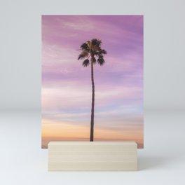Sunset Palm in Southern California Mini Art Print