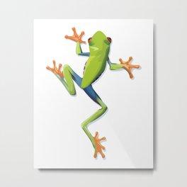 Greenery tree-frog Metal Print