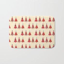 Three Christmas Trees Bath Mat