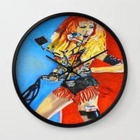moto Wall Clocks featuring Moto-chic by Marlon Davila
