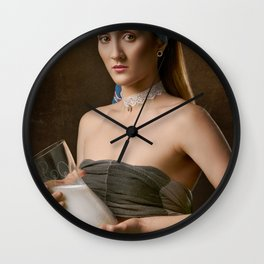 The Milkmaid Wall Clock