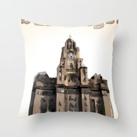 buildings Throw Pillows featuring Buildings by Wis Marvin