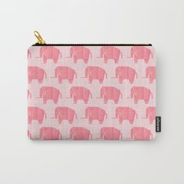 Big, Happy Elephant - Origami Pink Elephant Carry-All Pouch