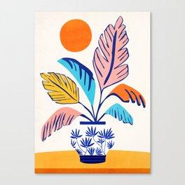 Summer Tropical Still Life Canvas Print