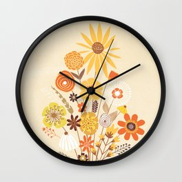 Flowers for My Little One Wall Clock