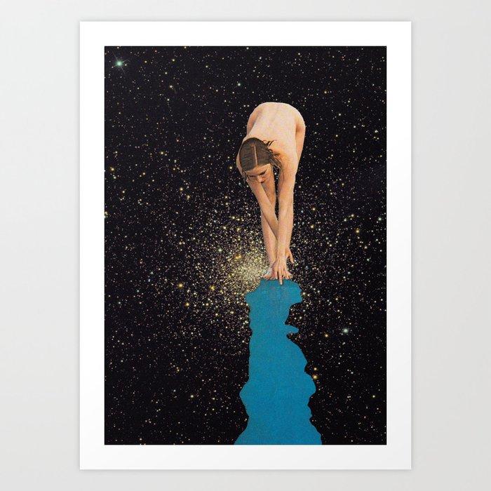 Globular Girl Art Print