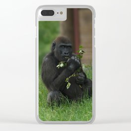 Cheeky Gorilla Lope Clear iPhone Case