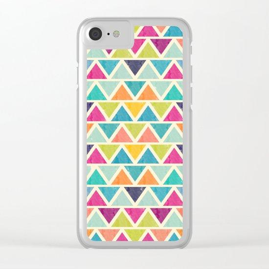 Lovely geometric Pattern II Clear iPhone Case