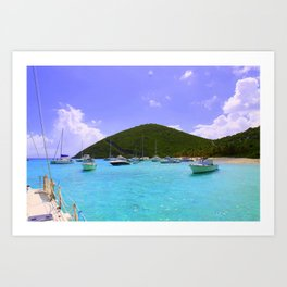 Sailing in the British Virgin Islands Art Print