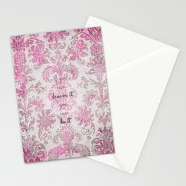 you can tapestry v. pink & raspberry Stationery Cards