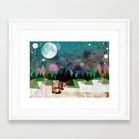 alone Framed Art Prints featuring Alone by Jo Cheung Illustration