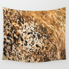 Rustic Country Western Texas Longhorn Cowhide Rodeo Animal Print Wall Tapestry