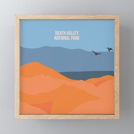 Winged Living Creatures Soaring High In Death Valley National Park Framed Mini Art Print