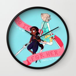 DO IT FOR HER/HIM Wall Clock