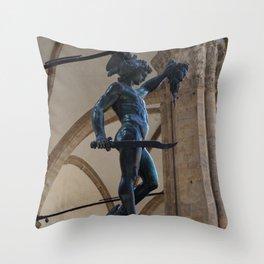 Perseus & Medusa   Florence, Italy Throw Pillow