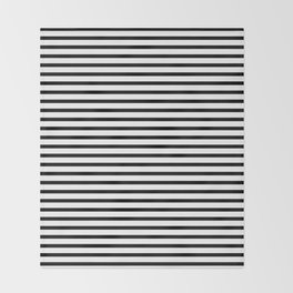 Stripped horizontal black and white pattern Throw Blanket
