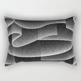 Aurora Borealis_Black and White Rectangular Pillow
