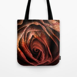 Bleeding Rust Rose Tote Bag