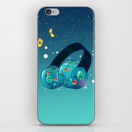 Goldfish Headphones iPhone Skin