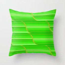 Geo Stripes - Green Throw Pillow
