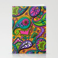 paisley Stationery Cards featuring Paisley by Shelly Bremmer