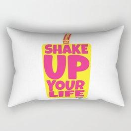 """Shake Up Your Life: Go Vegan"" from VegaFTW™ (Strawberry Banana) Rectangular Pillow"