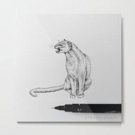 Jaguarundi Metal Print